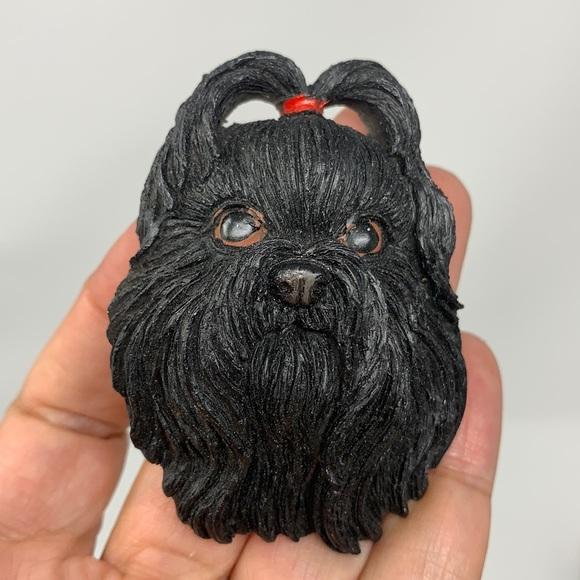 Black dog refrigerator magnet 🧲 decoration